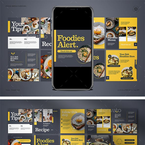 Food Instagram Coach Carousel
