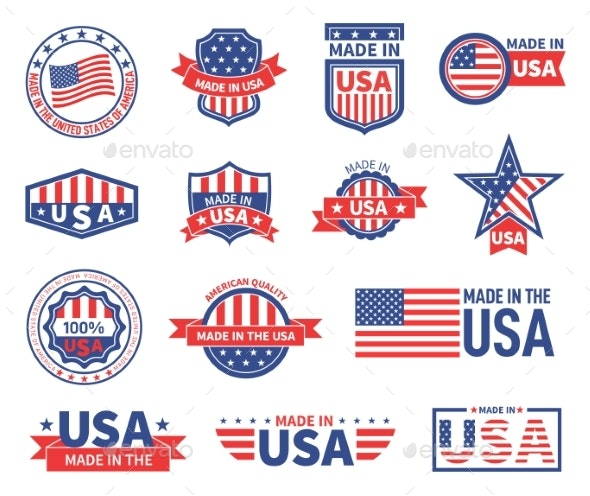 American Labels - Web Elements Vectors