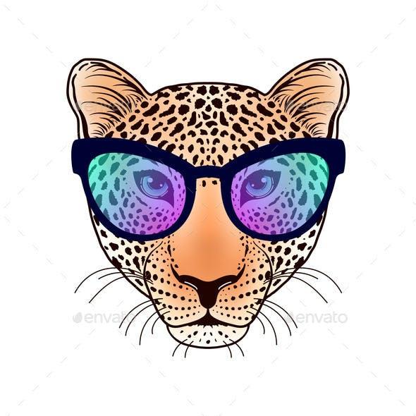 Leopard Muzzle with Sunglasses