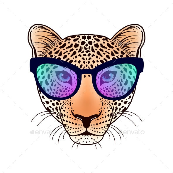 Leopard Muzzle with Sunglasses - Animals Characters