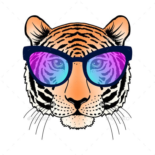 Tiger with Sunglasses