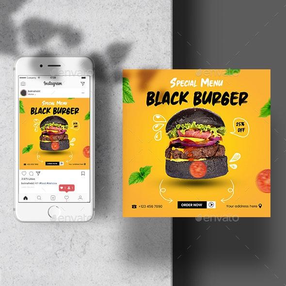Food Instagram Template Post Banner - Social Media Web Elements
