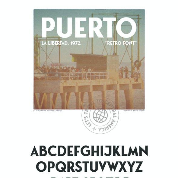 Puerto Vintage Font