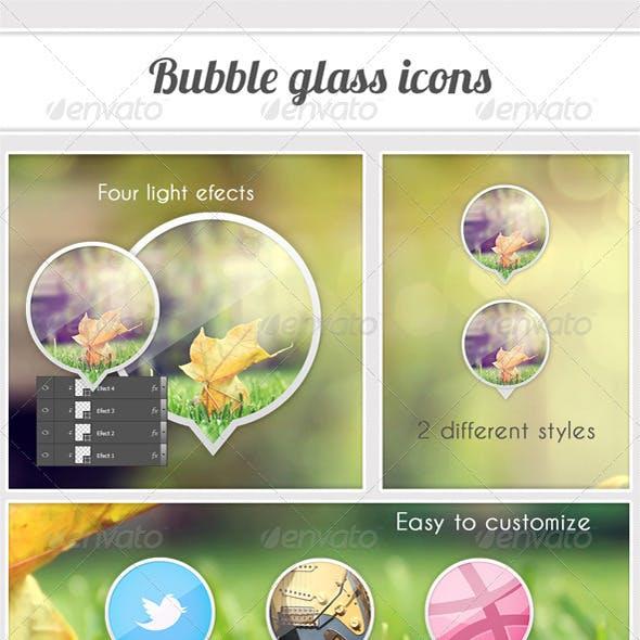 Bubble Glass Icon