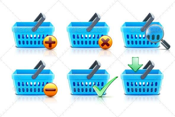 Supermarket shopping baskets - Commercial / Shopping Conceptual