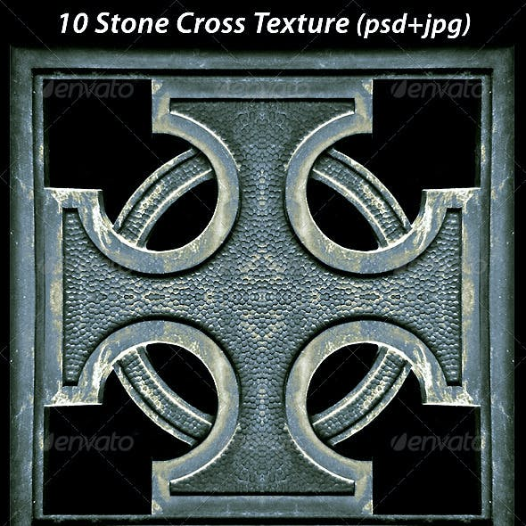 10 Stone Cross Textures