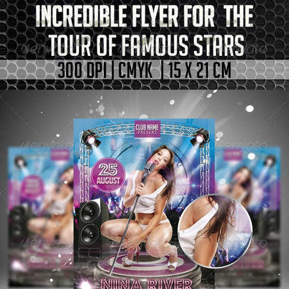Incredible Flyer For The Tour Of  Famous Stars