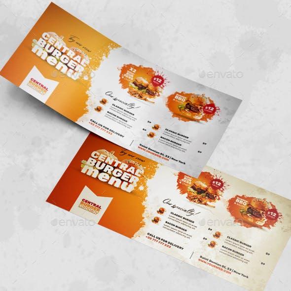Burger Flyer  - PSD Template