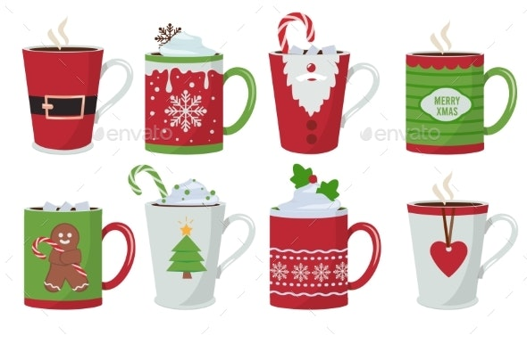 Christmas Cup - Objects Vectors