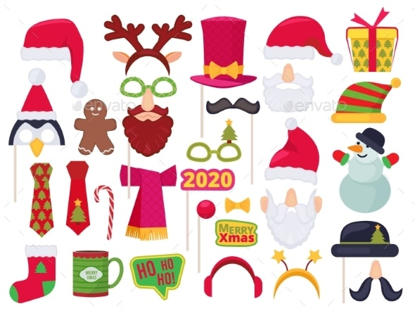 Xmas Booth - Objects Vectors