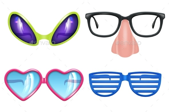 Masquerade Glasses - Objects Vectors