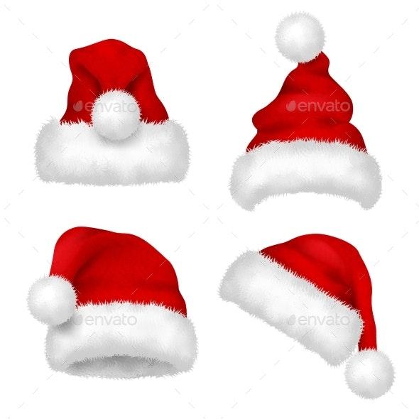Santa Hat - Objects Vectors