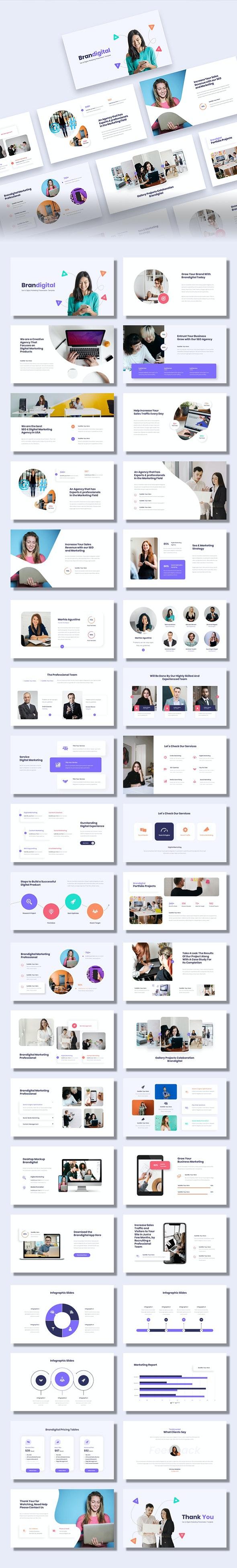 Brandigital - SEO & Digital Marketing Agency Google Slides Template