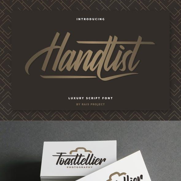 Handlist Calligraphy Font