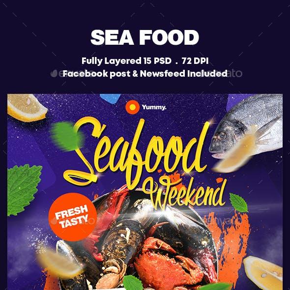 Sea Food Banners Ad