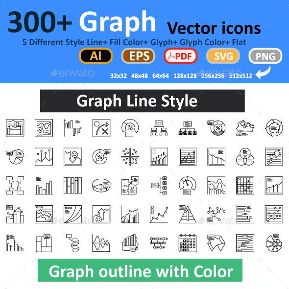 Graph Isolated Vector icons