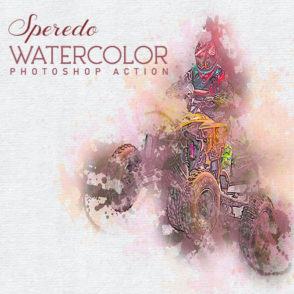 Speredo Watercolor Photoshop Action