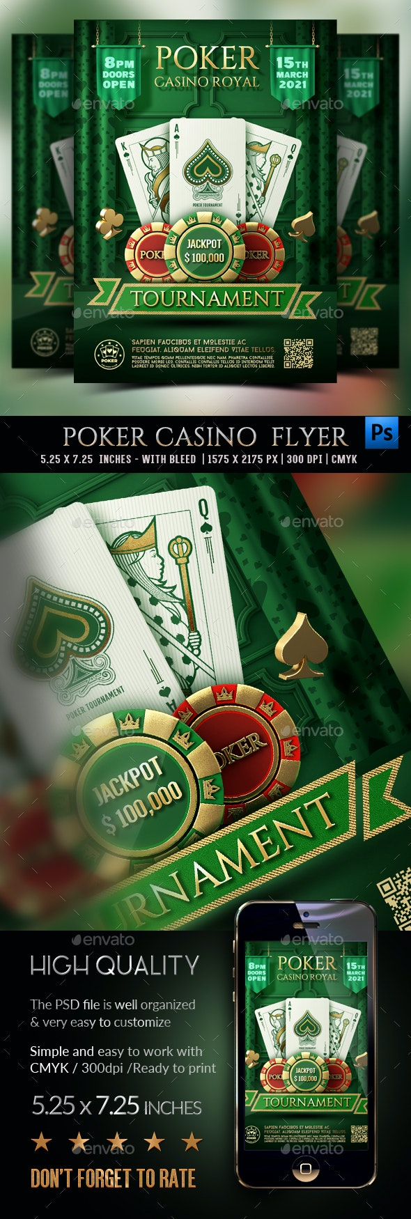 Poker Flyer - Clubs & Parties Events