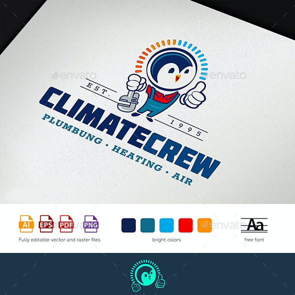 Climate Control Service / HVAC Logo Tamplate