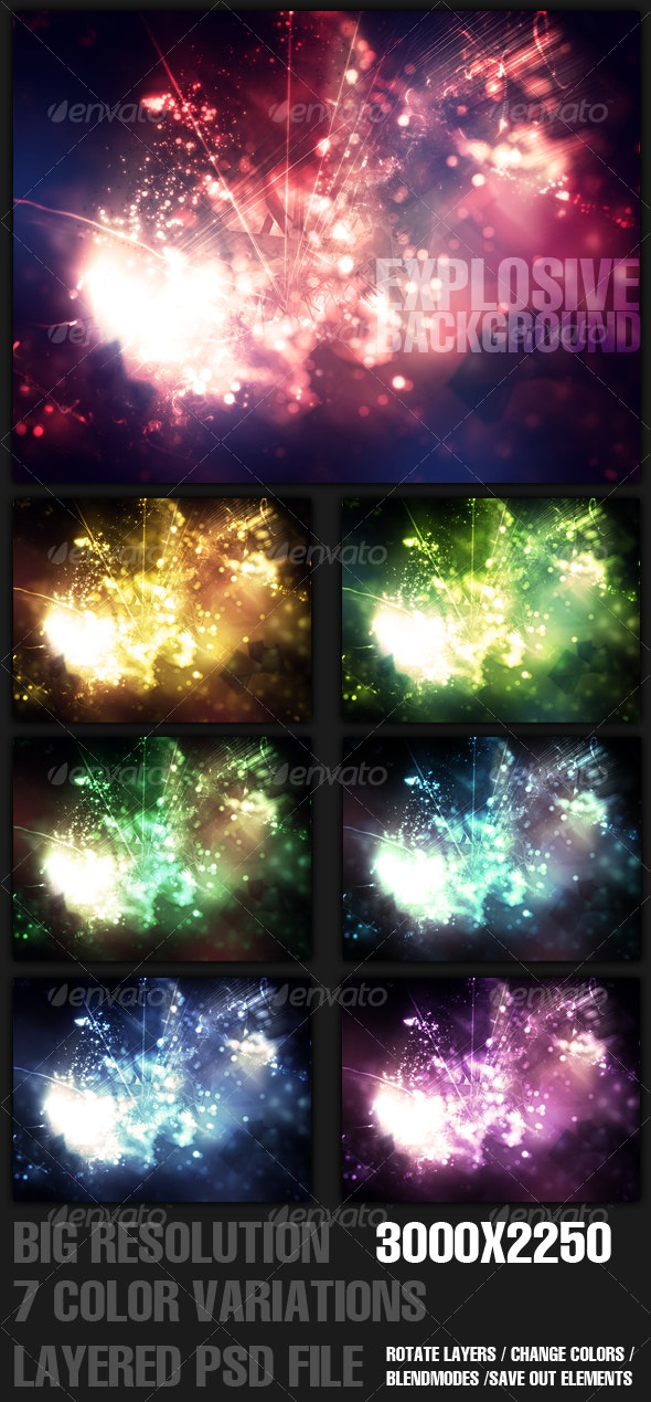Explosive Background. - Backgrounds Graphics
