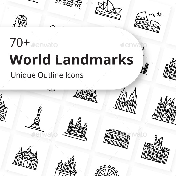 Most Famous Landmarks in The World - Buildings Objects