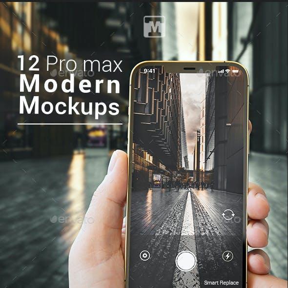 12 Pro Max Modern Mock-ups - Apps Ui Showcase