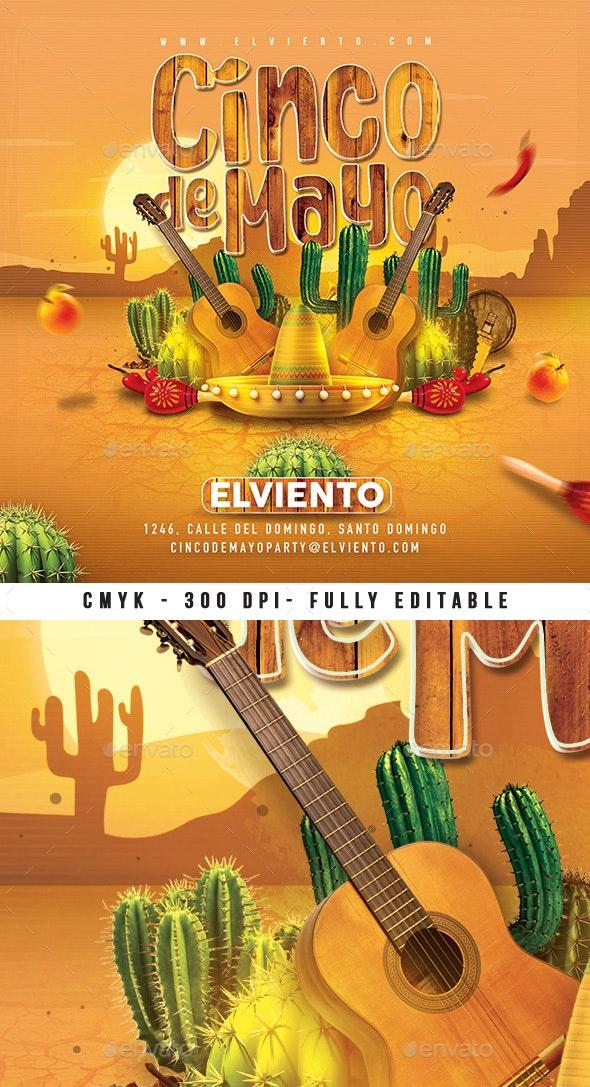 Mexico Cinco De Mayo Celebration Flyer - Clubs & Parties Events