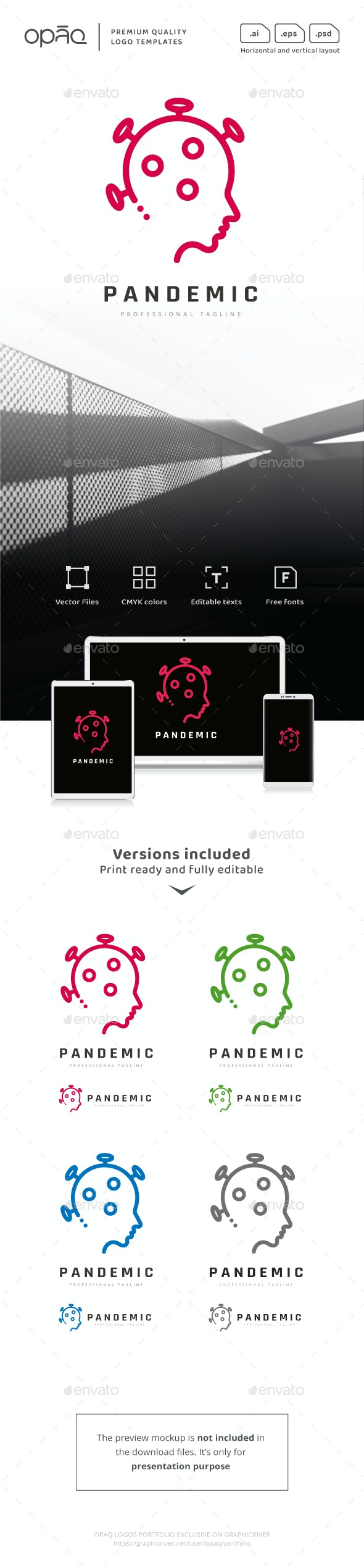 Pandemic Human Virus Logo - Humans Logo Templates