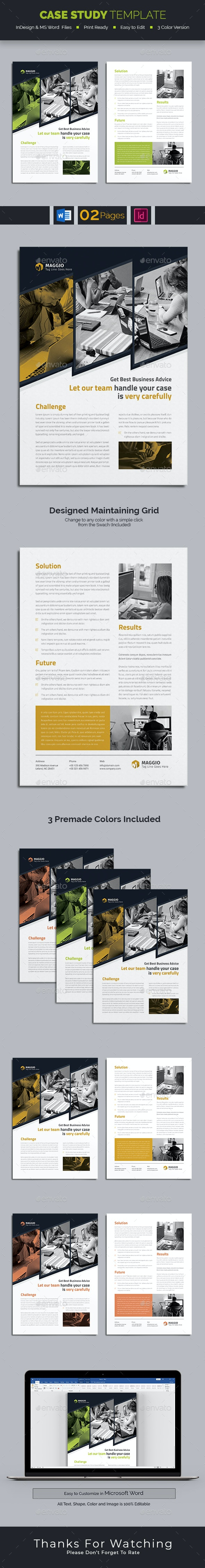 Case Study Template - Informational Brochures