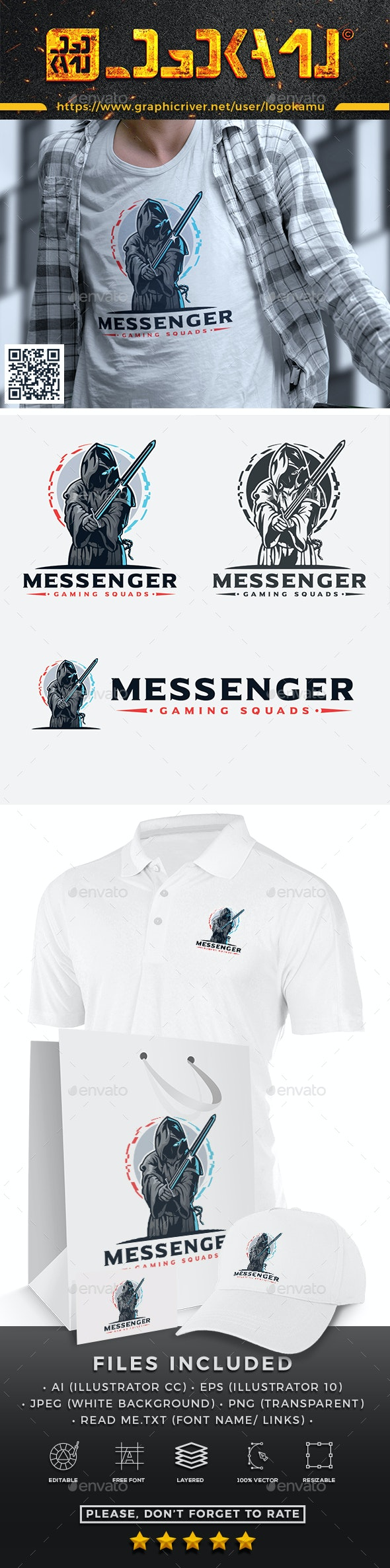 Messenger Knight Logo - Humans Logo Templates