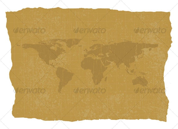 Old World Map - Decorative Symbols Decorative