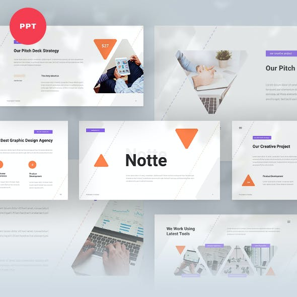 Notte Pitch Deck Powerpoint Template