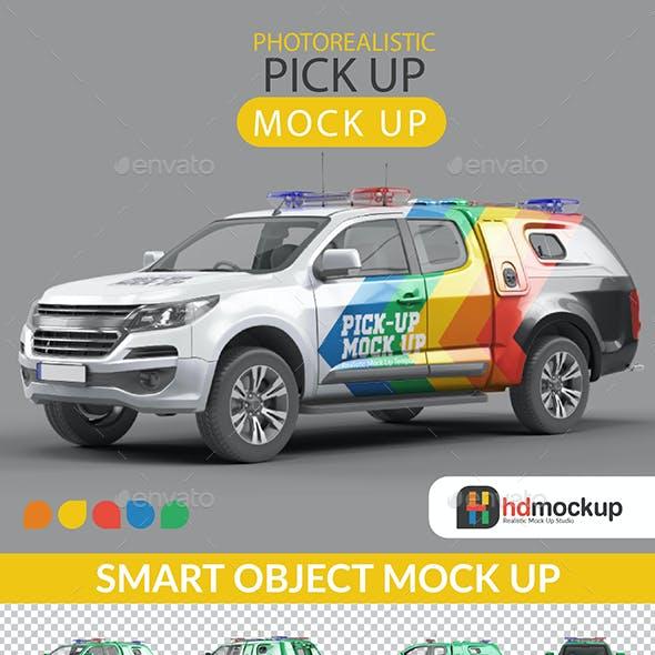 Photorealistic Pick Up Car Mock Up