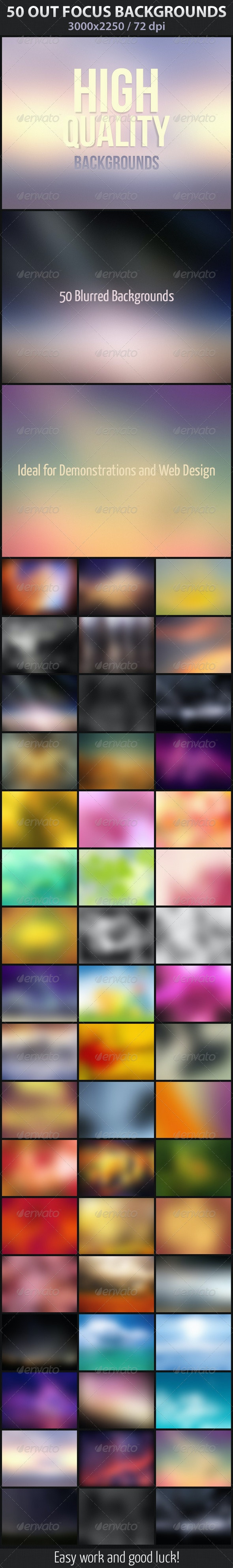 50 Out Focus Backgrounds - Abstract Backgrounds