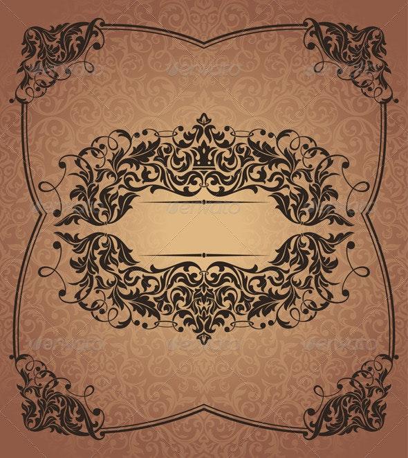 Retro Floral Frame - Borders Decorative