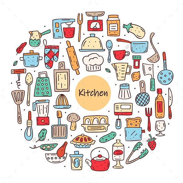 Kitchen Elements - Food Objects