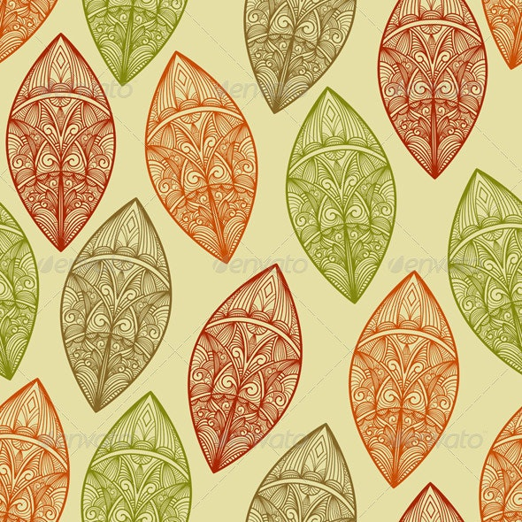Seamless Autumn Pattern - Patterns Decorative