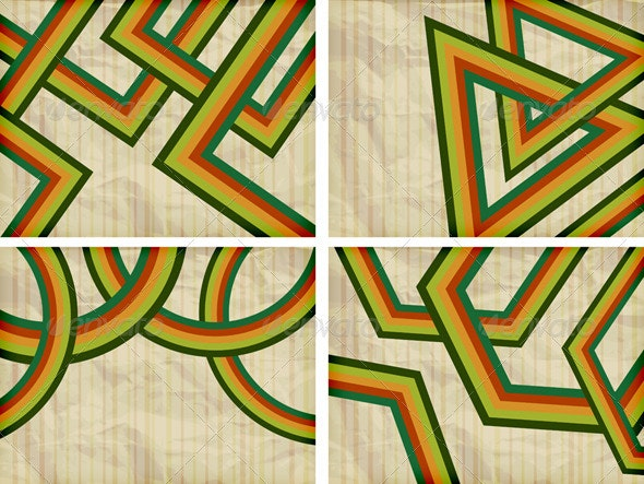 4 Retro Backgrounds - Backgrounds Decorative