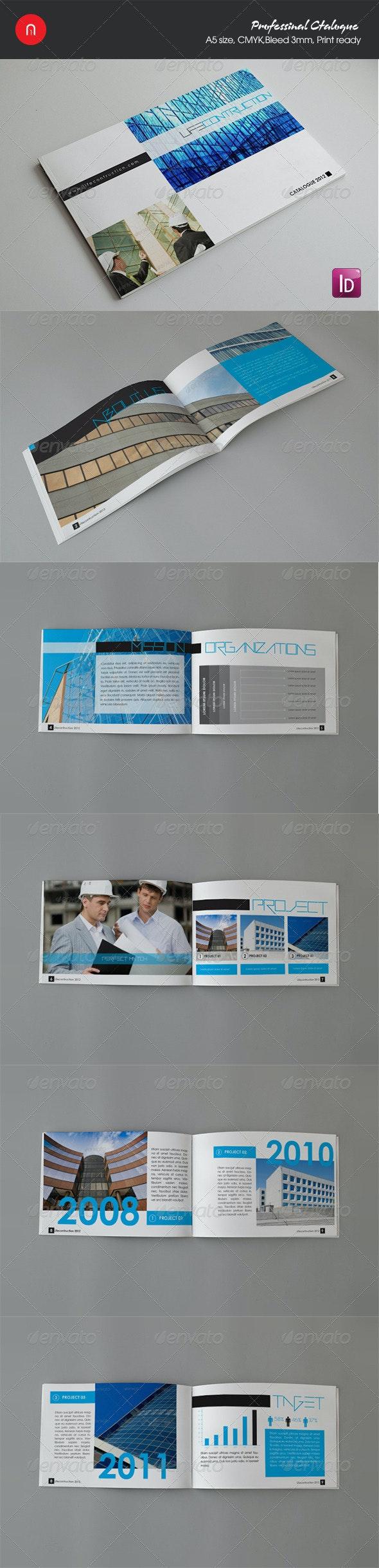 Life contruction brochure/catalogue - Brochures Print Templates