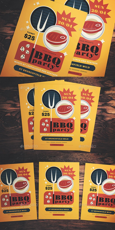 BBQ Event Flyer - Flyers Print Templates