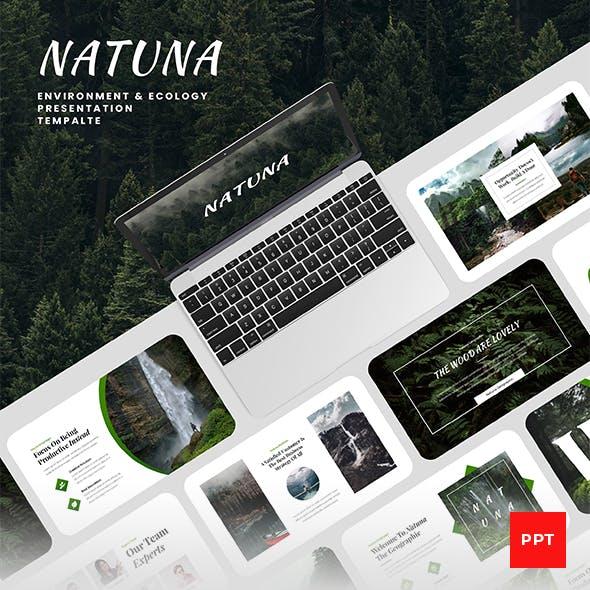 Natuna - Environment & Ecology PowerPoint Presentation Template