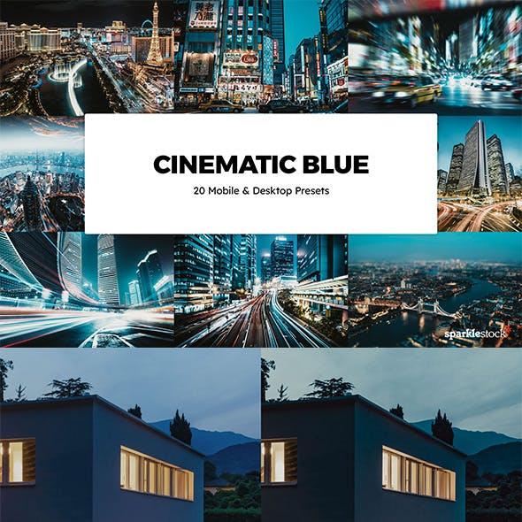 20 Cinematic Blue Lightroom Presets & LUTs