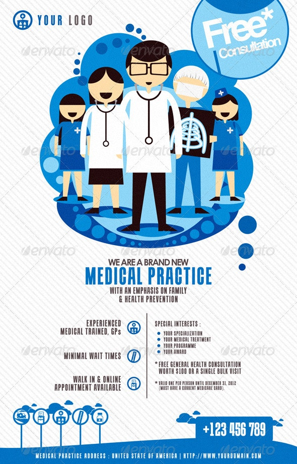 Modern Medical Flyer Print Template - Miscellaneous Events