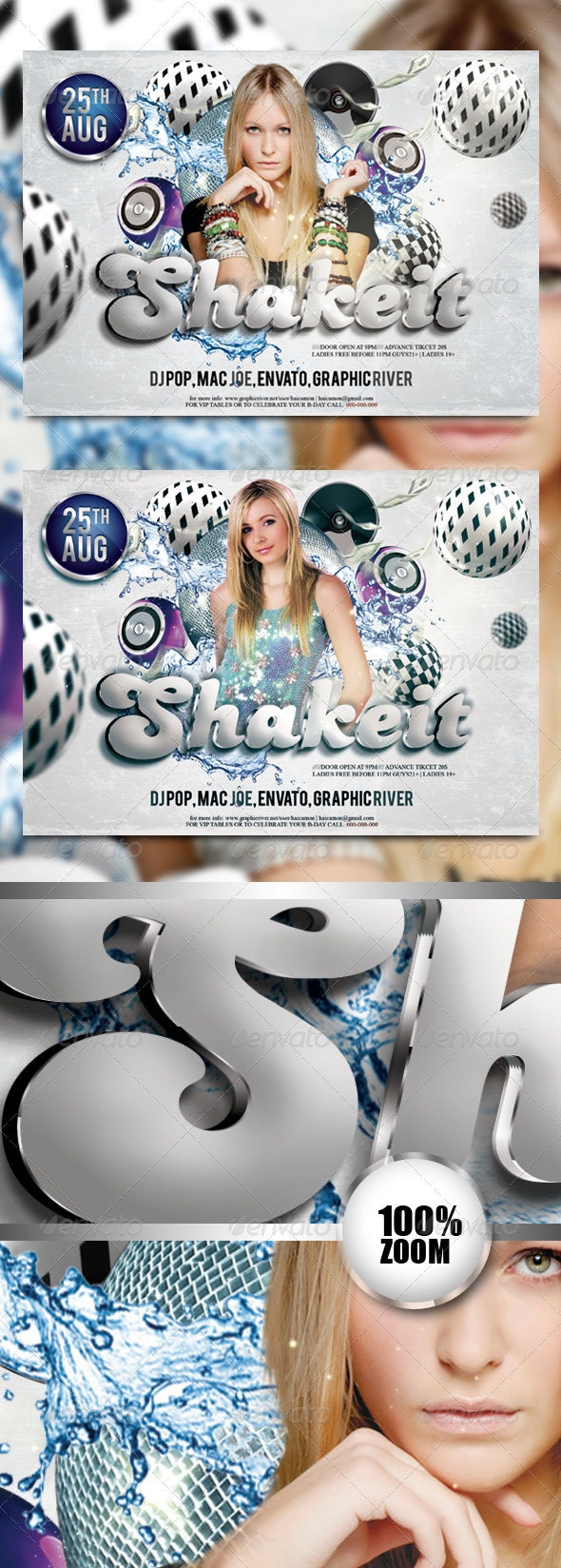 Shake It Night Party Flyer - Clubs & Parties Events