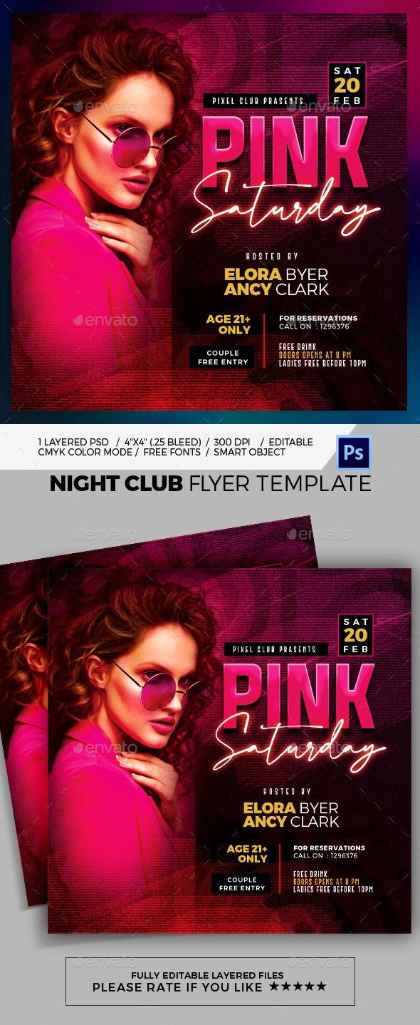 Night Club Flyer Template - Print Templates