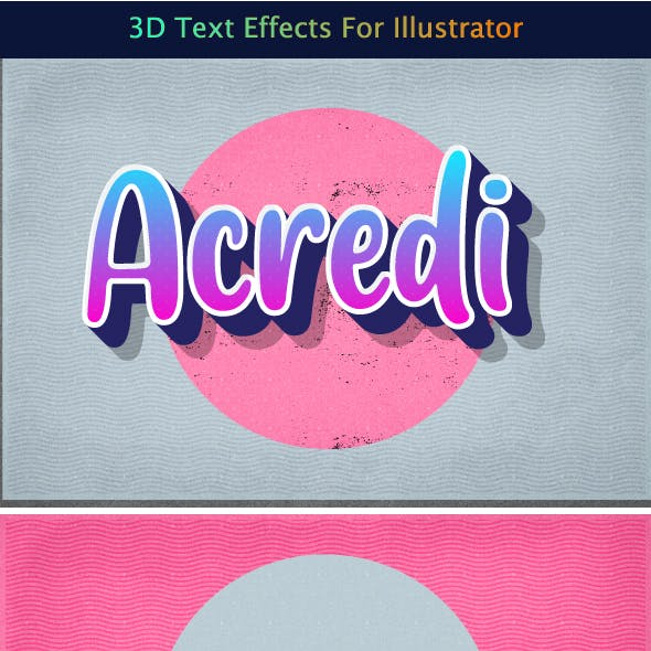 3d Text Effects for Illustrator