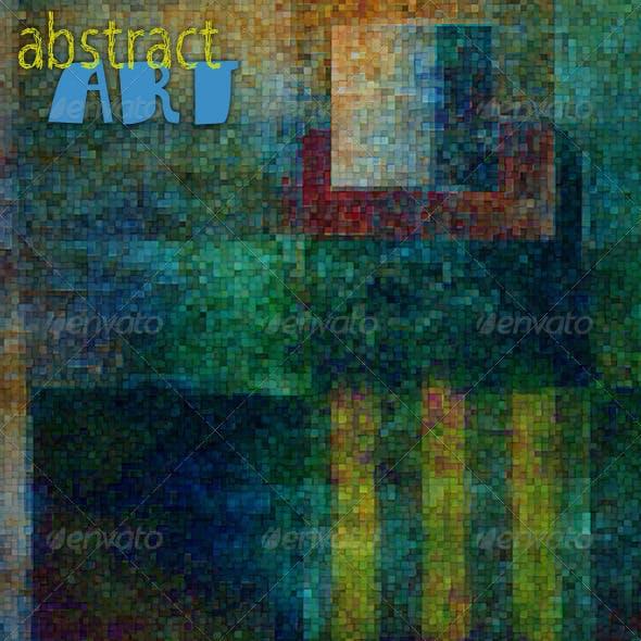 Abstract Art; Mosaic Murals Web Backgrounds