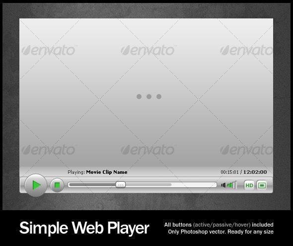 Simple Web Player - Web Elements