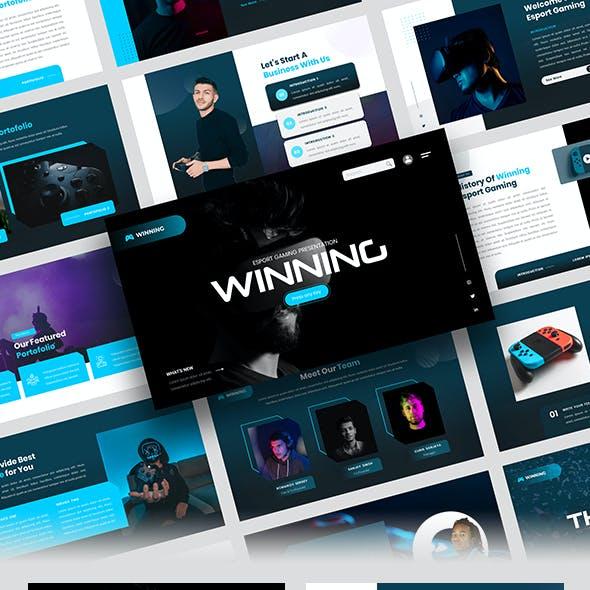 Winning – Esport Gaming PowerPoint Template