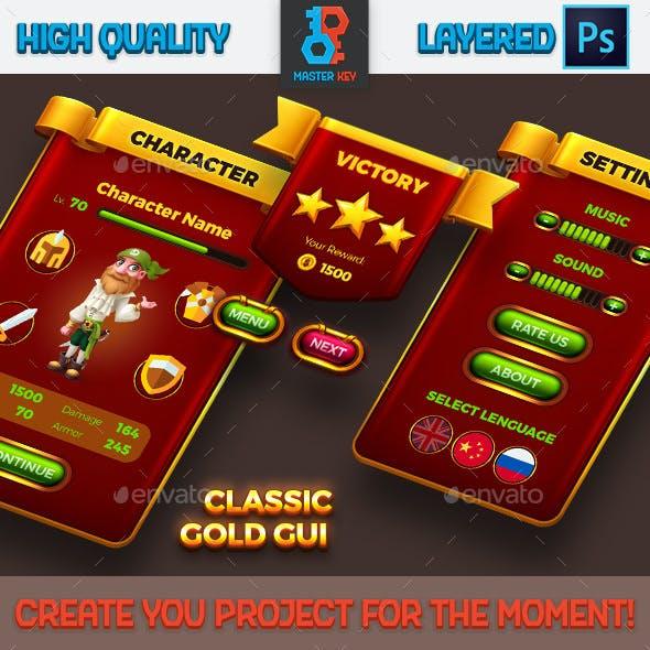 Classic Game Gold GUI